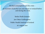 Alcohol consumption and the crisis – an overview of alcohol use and misuse in Iceland before and during the crisis